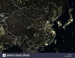 World Map At Night by Satellite Image Night Lights Asia Stock Photos U0026 Satellite Image