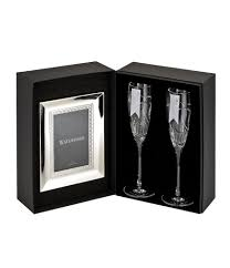 waterford wedding vows flute pair and frame gift set