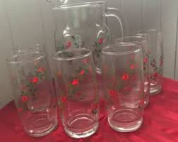 pitcher of roses pitcher etsy