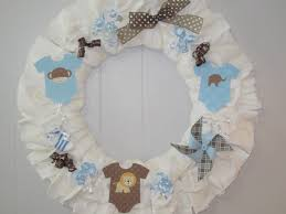 baby shower wreath baby shower wreath ideas wblqual