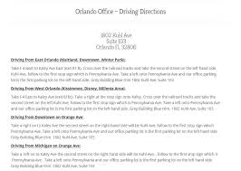 printable driving directions orlando office driving directions medical vein center