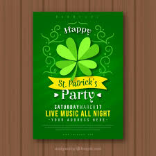 st patrick u0027s day flyer poster template vector free download