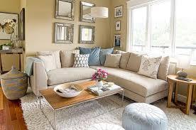 tan living room walls white rug grey fur rug black leather bench