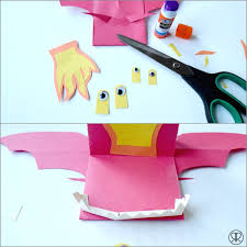 paper dragons paper puppets a paper puppet craft ruffles and