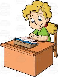 Kid At Desk by Child Studying Clipart Cliparts For You