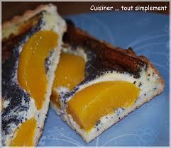 cuisiner les peches tarte pêches pavot cuisiner tout simplement le de