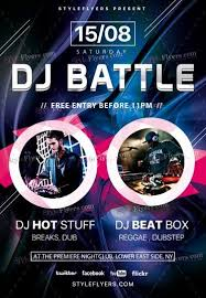 dj battle psd flyer template 19251 styleflyers