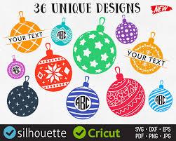 christmas ornaments svg tree balls svg monogram frames clip art