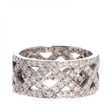 braided band co platinum diamond braided band ring size 6 88359