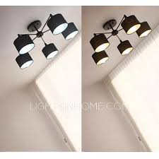 Ceiling Lights Cheap by Farbric Shade 5 Light Cheap Modern Ceiling Lights