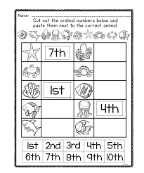 ordinal number posters and worksheets ordinal numbers students