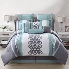 Silver Comforter Set Queen Bed Linen Amusing Navy And Silver Bedding Blue Bedding Amazon