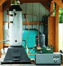wood burning steam powered generator steam engine generator
