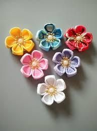 Lapel Flowers Aliexpress Com Buy Handmade Kanzashi Flowers Diy Craft Supplies