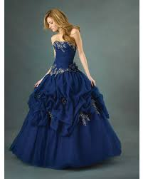 royal blue ball gown strapless sweetheart lace up full length