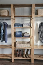 Build A Simple Wood Shelf Unit by Ana White Build A Industrial Style Wood Slat Closet System With