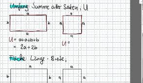rechteck fläche berechnen fläche und umfang quadrat und rechteck