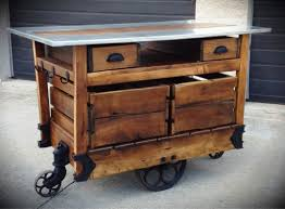 reclaimed wood portable kitchen island cart designs ideas