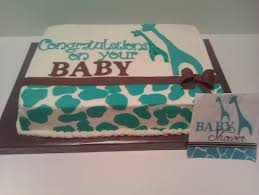 giraffe themed baby shower made to match party theme cake ideas