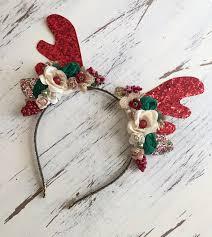 fawn headband reindeer headband deer antler headband fawn headband christmas