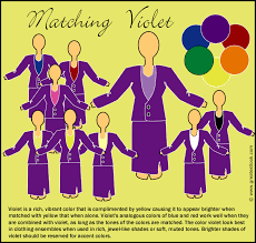 colors that match with purple matching violet clothes with other colors