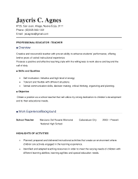 Sample Faculty Resume by Resume Sample For Teachers
