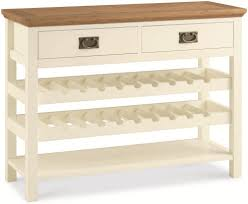 wine rack console table two tone console table with wine rack