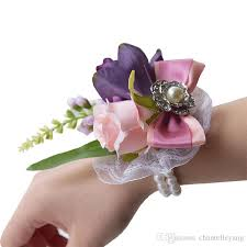 wedding wrist corsage bridal wrist corsage wedding flower multicolor brooch the