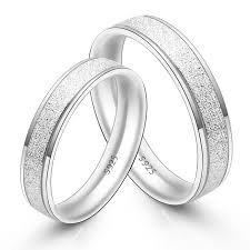 Sterling Silver Wedding Ring Sets by His U0026 Hers Matching Couple Sterling Silver Rings Set Dull Polish