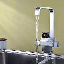 chrome finish contemporary style thermostatic kitchen faucet