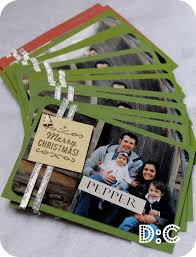 homemade photo christmas cards probably cheaper than using