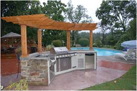 Backyards  Compact Backyard Designs With Pool And Outdoor Kitchen - Backyard designs with pool and outdoor kitchen