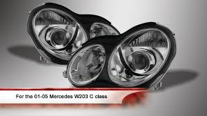 01 05 Mercedes W203 C Class Sedan Projector Headlights Youtube