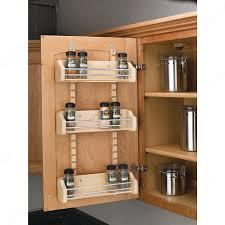 Cabinet Door Mounted Spice Rack Adjustable Door Mounting Spice Rack Richelieu Hardware