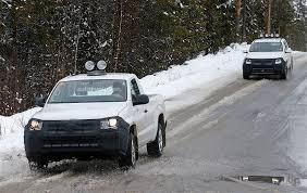 volkswagen amarok off road 2017 volkswagen amarok spied testing in winter conditions