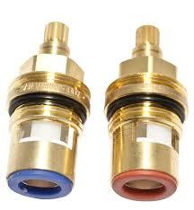 brass tap gland with 1 4 turn ceramic seal thread 1 2