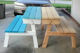 picnic table converts to bench ana white convertible picnic table diy projects