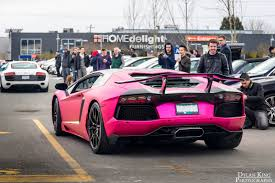 red chrome lamborghini matte chrome pink lamborghini aventador in vancouver gtspirit