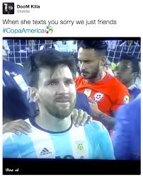 Why Are You Crying Meme - when she texts you crying messi know your meme