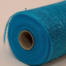 deco mesh ribbon 10 in metallic turquoise deco mesh ribbon floral ribbon