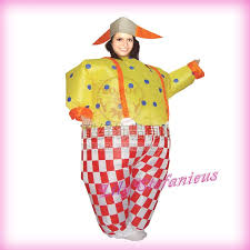 Fat Halloween Costumes Chub Party Clown Funny Suit Inflatable Blow Color
