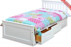 High Single Bed With Storage Amani White Pine Mission Single Slat Bed With Storage 3 Drawers