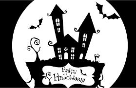 clipart happy halloween haunted house stencil