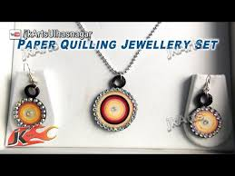 quilling earrings set paper quilling jhumka and jwellery sets jk arts nhltv net