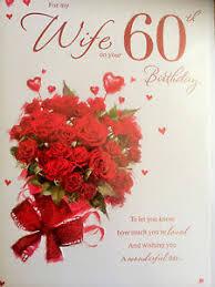 wife 60th birthday card ebay