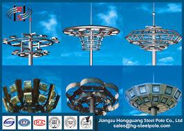 Hps Lights Octagonal 25m High Mast Stadium Light Tower 10 Hps Lights With