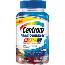 centrum multivitamin gummies for men 70 ct vitamins sports