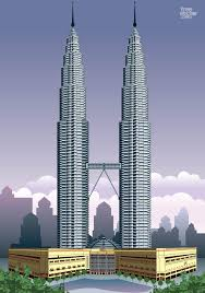 petronas towers vector art u0026 graphics freevector com