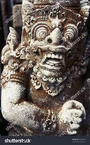 God Statue Mid Shot Balinese God Statue Temple Stock Photo 83169634