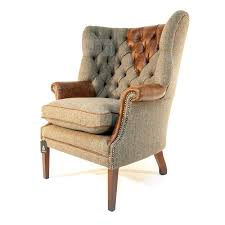Tetrad Armchair Tetrad Harris Tweed Mackenzie Chair Option B Fabric Cover With